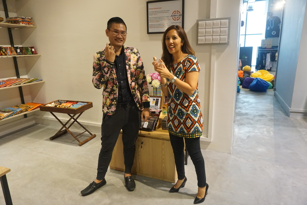 Josh & I at his perfume display in LOKA, Nu Sentral Mall
