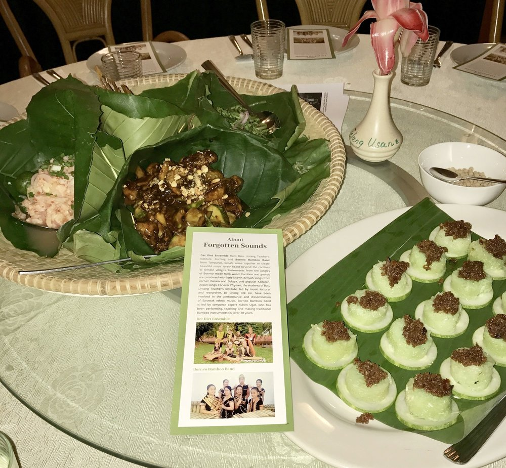 "Local Sarawak appetisers at Telung Usan Restaurant to the lilting ""Forgotten Sounds"" performance."