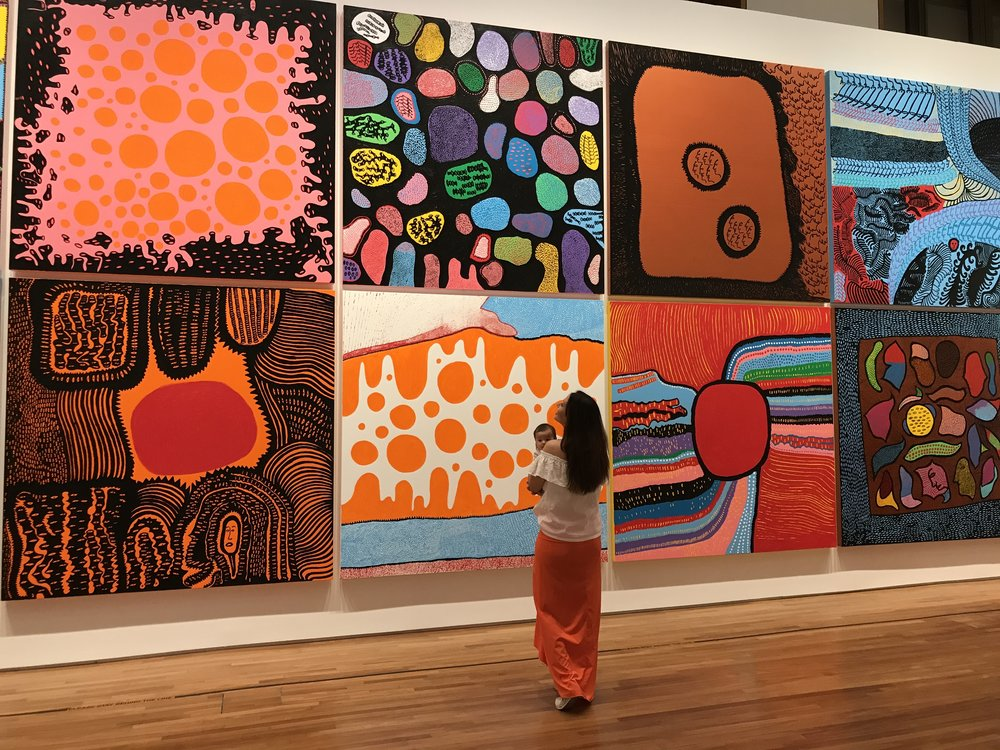"""The newly unveiled exhibition namesake """"Life is the Heart of a Rainbow"""" 2017."""