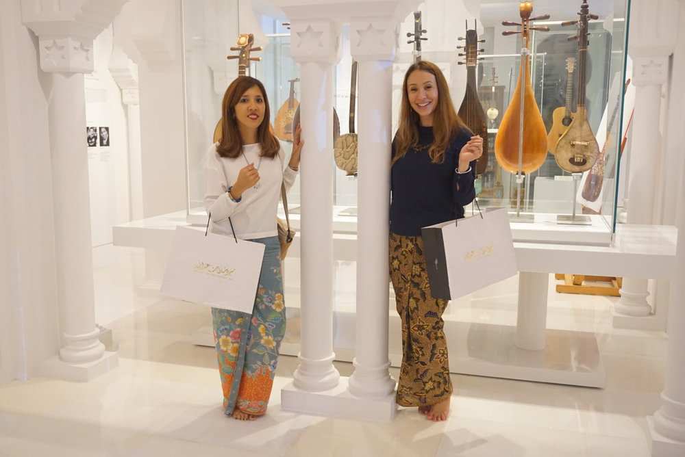 Batik&Bubbles in BatikabyHudaa skirts at the launch of Muzium Masjid Sultan Abdullah!