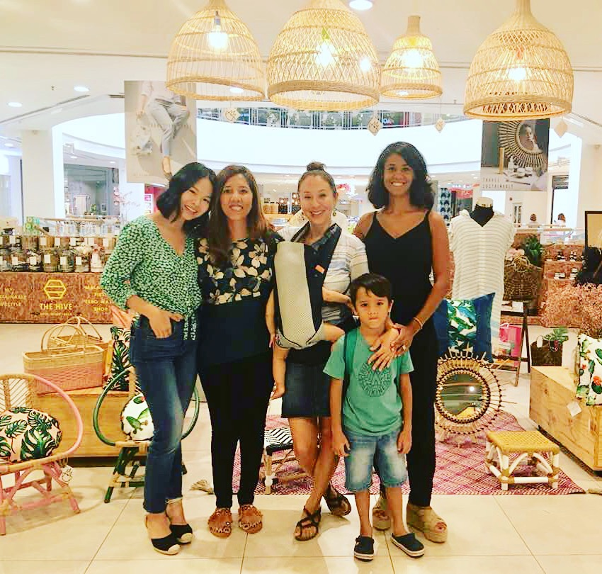 Batik&Bubbles at lifestyle pop up shop The Pilgrims in Bangsar Village II with proprietors Sian from Root Remedies and Madelaine from Metisse Maison