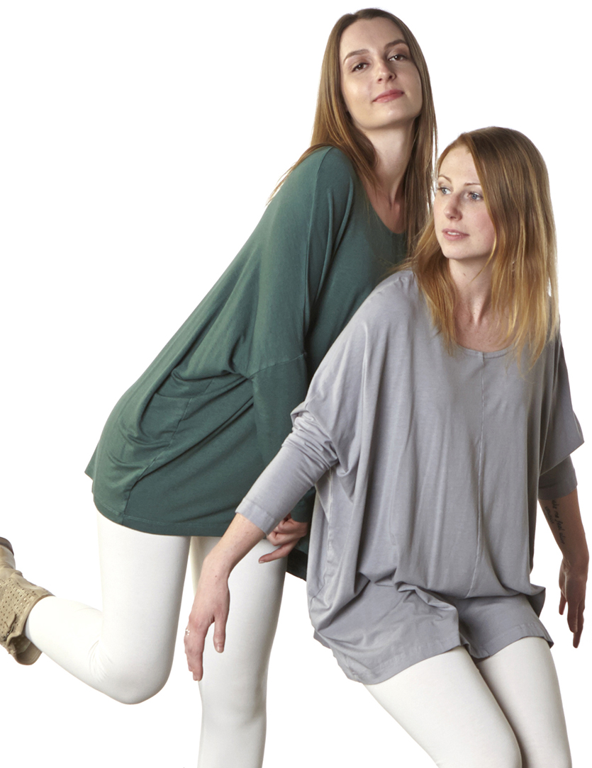 Alan Tunic in Jetty Bamboo Cotton, Alan Tunic in Terrarium