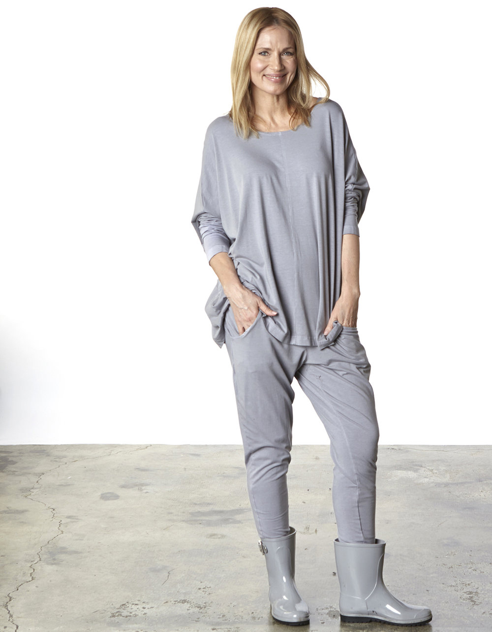 Alan Tunic, Cargo Pant in Jetty Organic Bamboo Cotton
