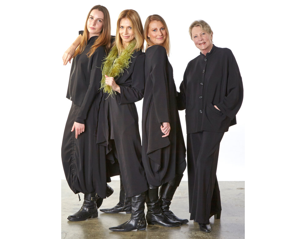 Santa Fe Jacket, Cleo Skirt, Toby Vest, Nada Tunic, Danuta Jacket, Palazzo Pant in Black Ready for Zurich
