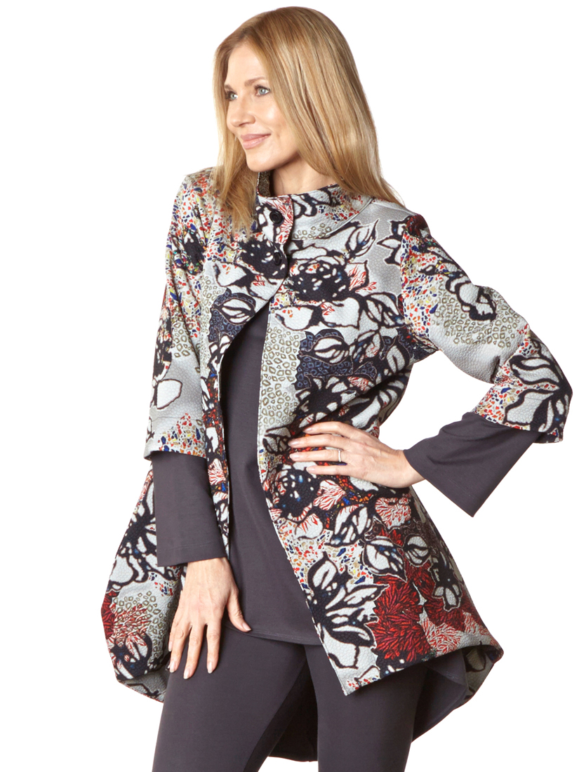Yael Jacket, in Multi Ready for San Sebastian, Leo Tunic, Legging in Grey