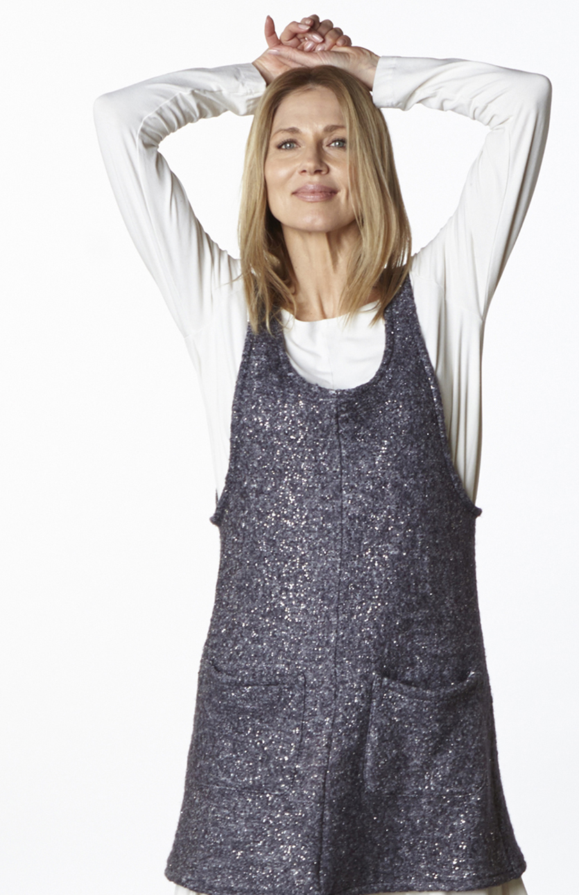 Debo Tunic in Quartz Ready for Cortina, Indiana Shirt in Cream Organic Bamboo Cotton