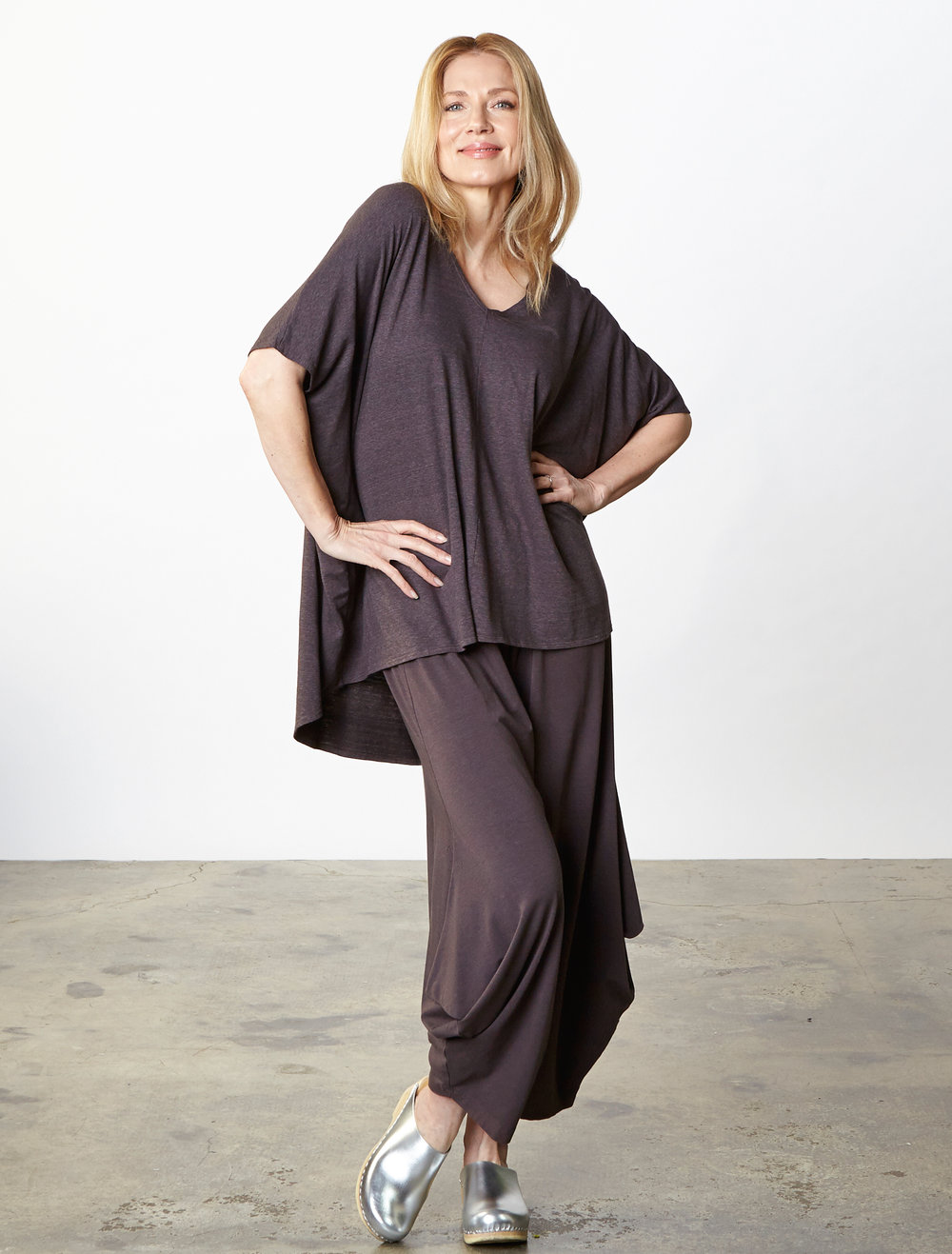 Justin Tunic in Earl Striped French Terry, Hamish Pant in Earl Organic Bamboo Cotton