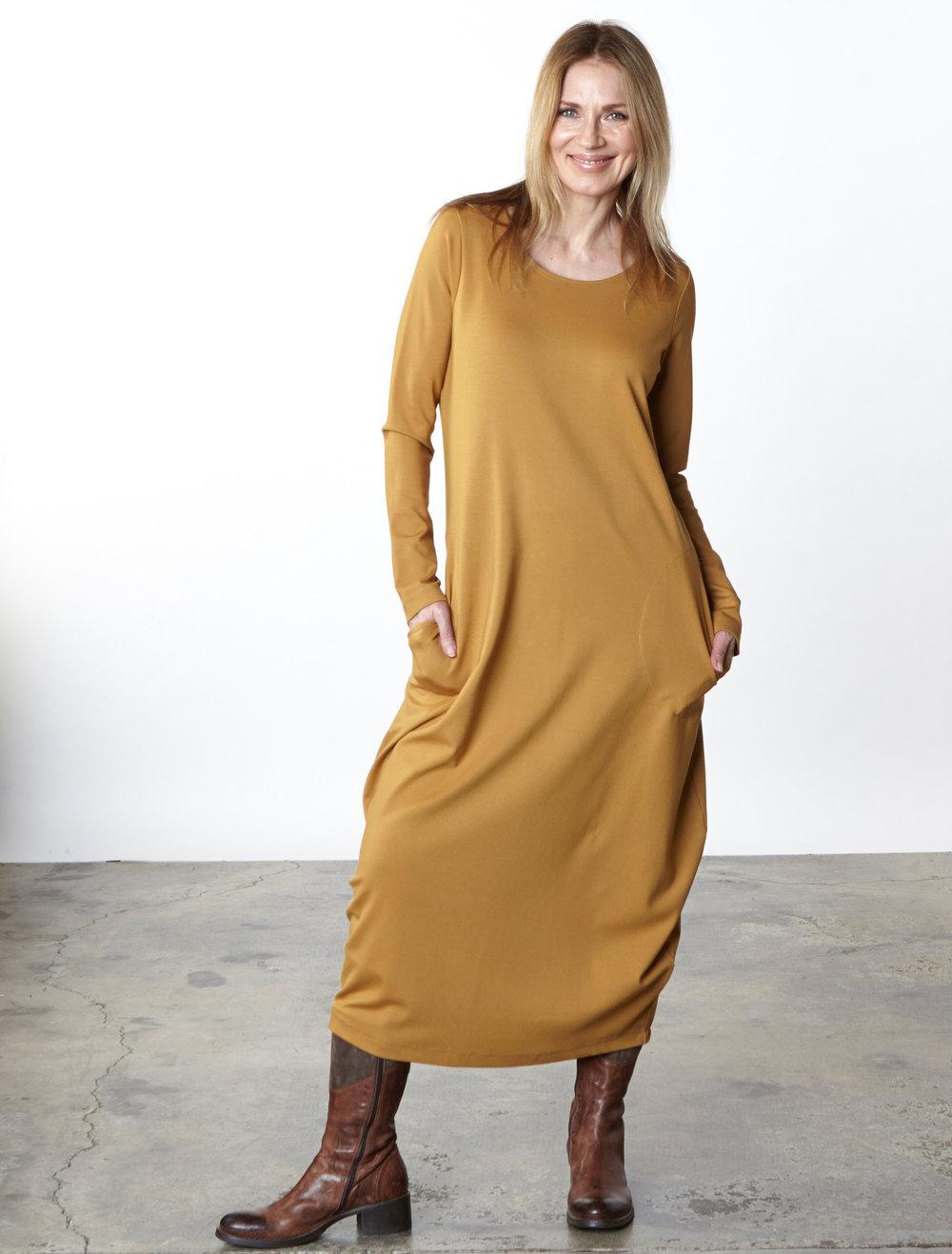 Philippa Dress in Camel Modal Ponti