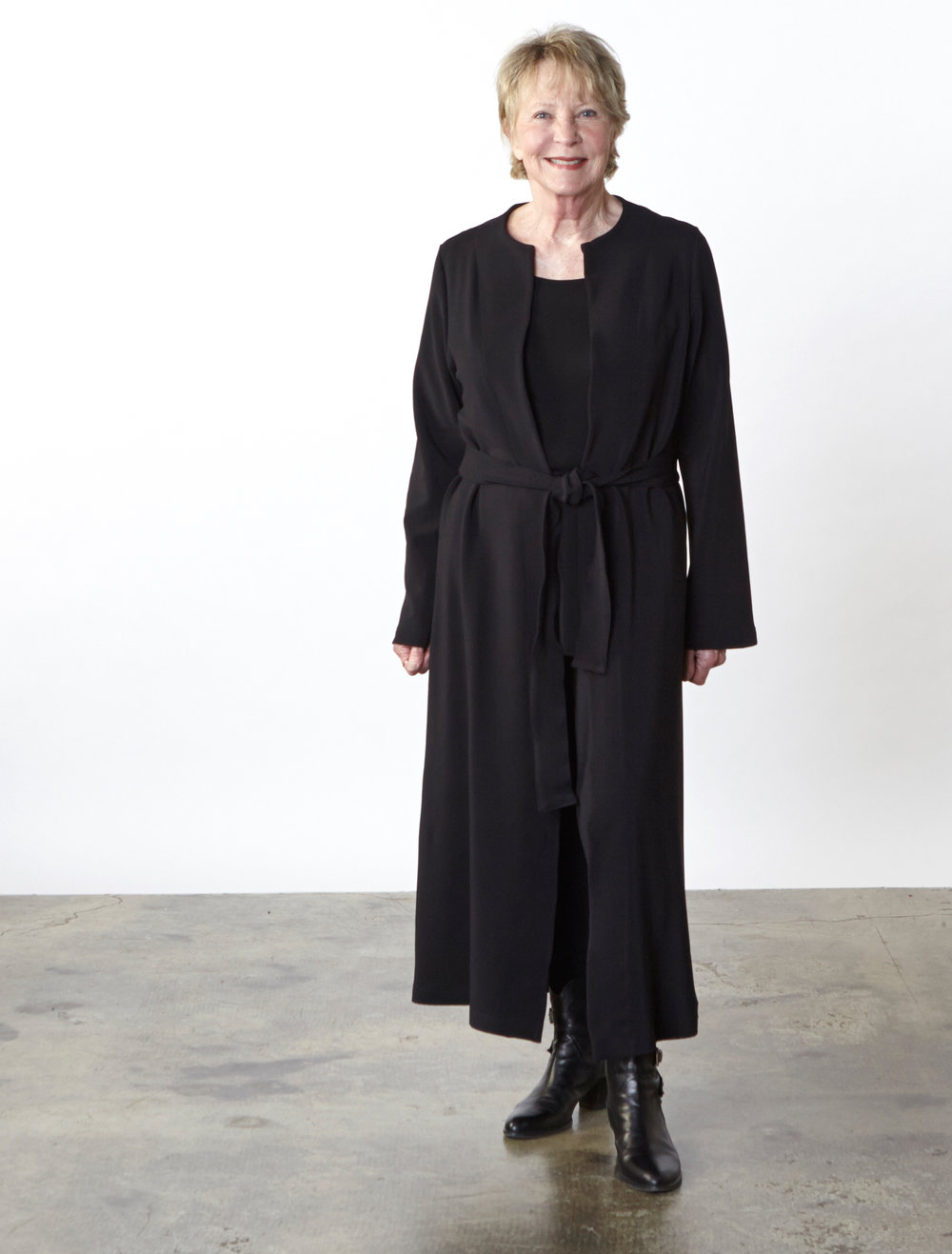 Clyman Jacket, Legging in Black Ready for Zurich, Gabo Tunic in Black Italian Microfiber Jersey