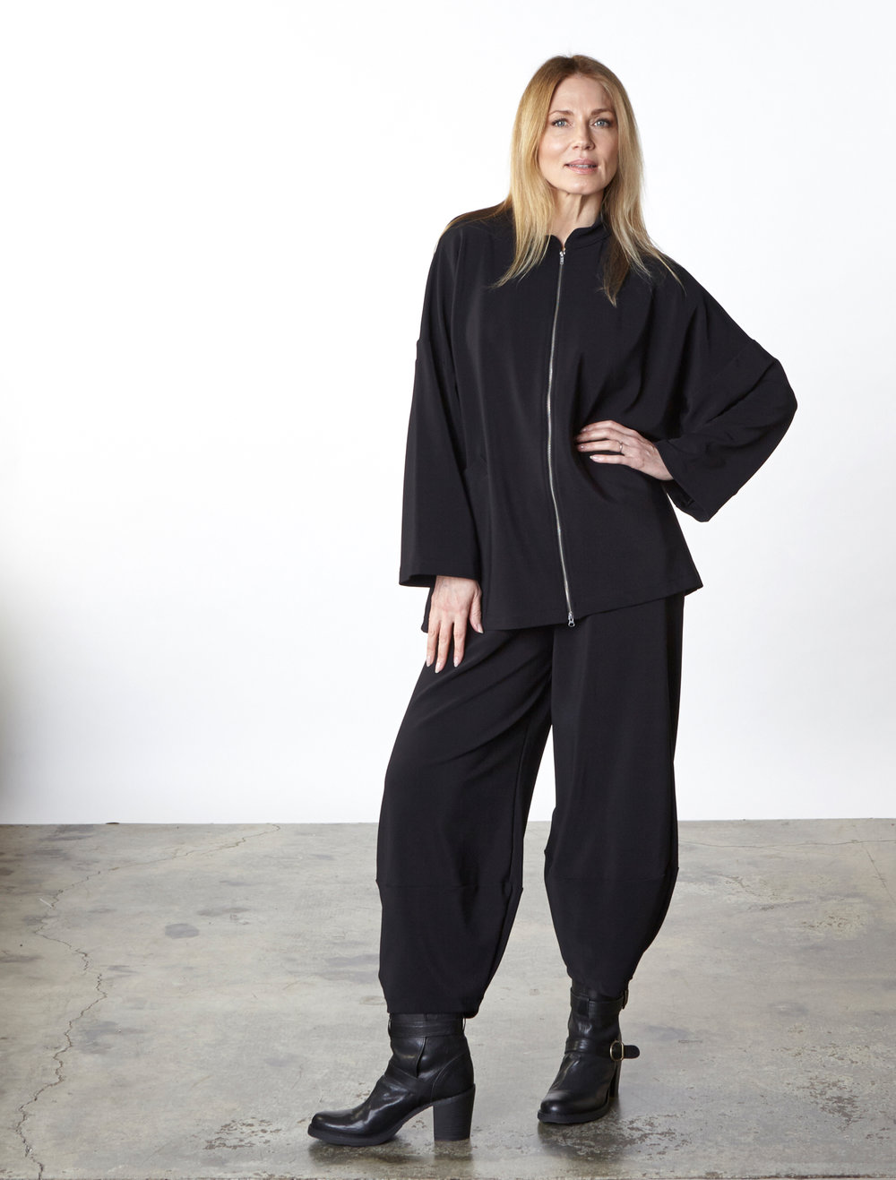 Danuta Jacket, Oliver Pant in Black Ready for Zurich