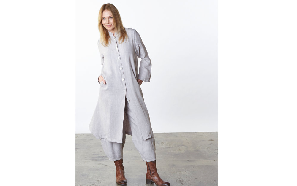 Llewellyn Jacket, Oliver Pant in Daikon Heavy Linen