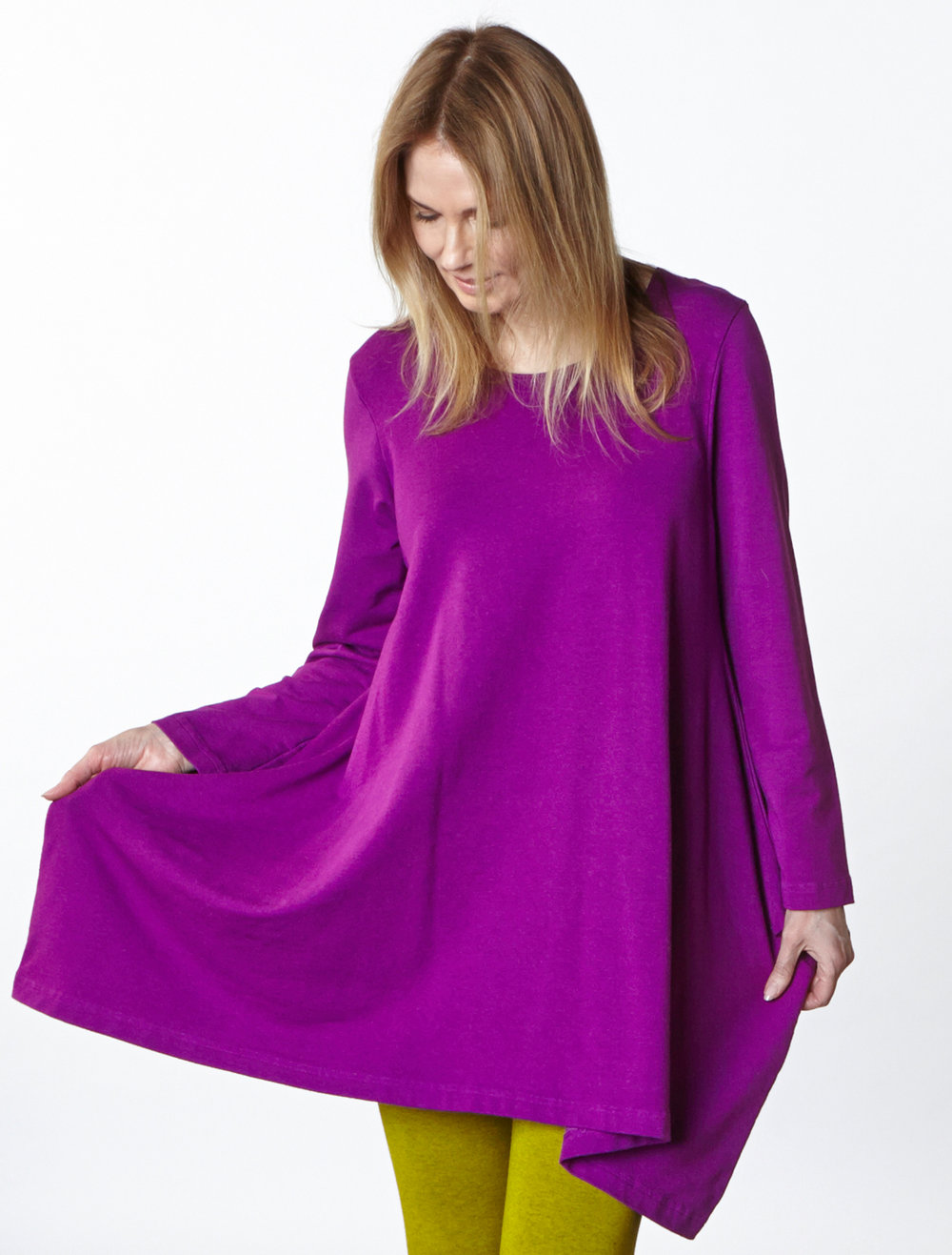 Nahla Tunic in Rhapsody Bamboo French Terry