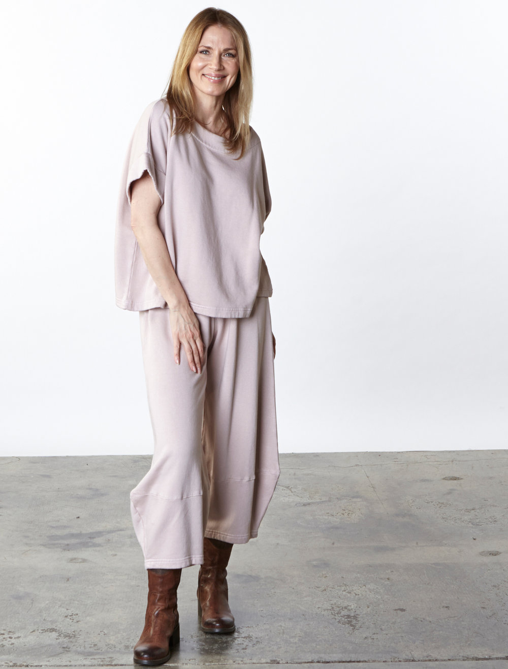 Orla Shirt, Oliver Pant in Lace Bamboo Fleece