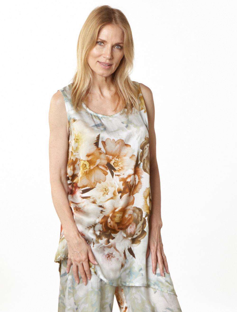 Una Tunic, Long Full Pant in Borghese Italian Silk