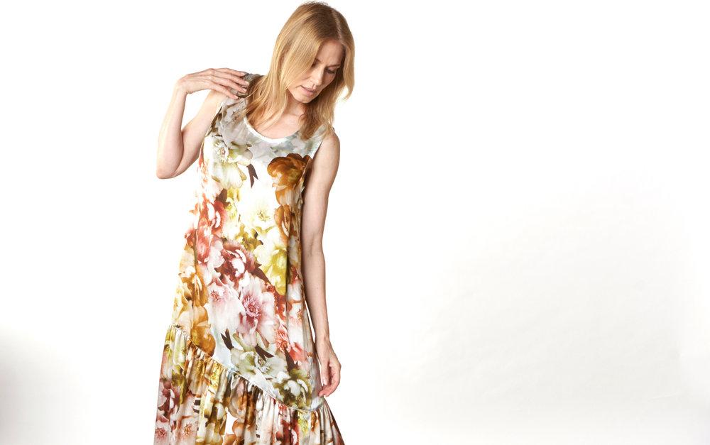 Salome Dress in Borghese Italian Silk