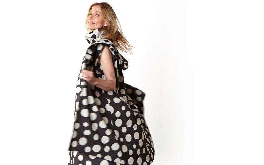 Morgen Vest, Henrietta Dress in Italian Dots & Stripes