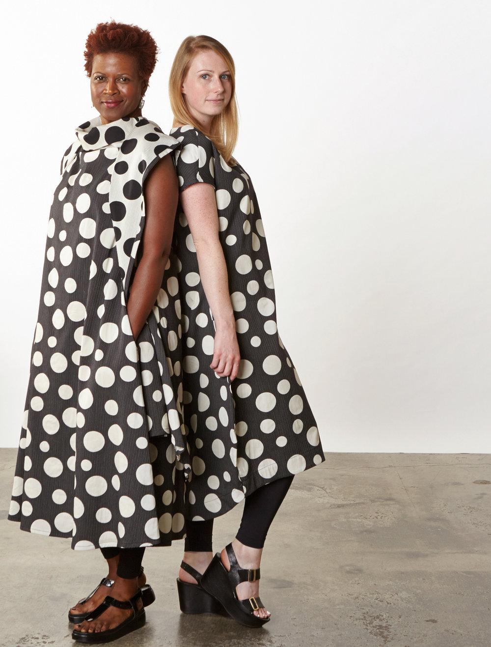 Morgen Vest, Henrietta Dress, Bubble Dress in Italian Dots & Stripes