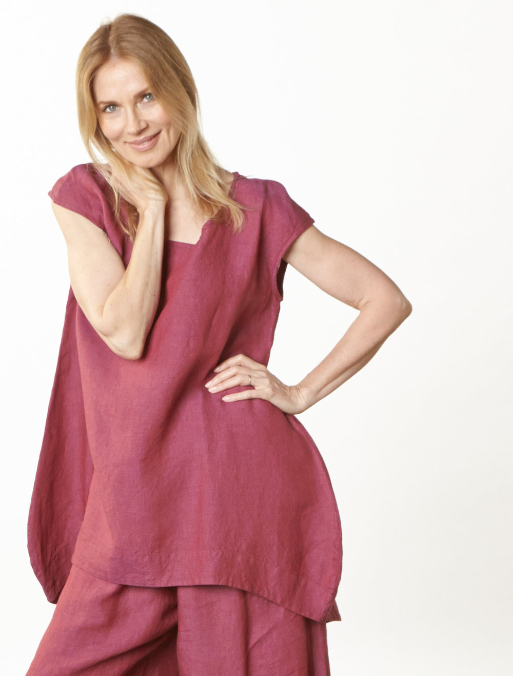 Amy Tunic, Oliver Pant in Granada Cross Dyed Linen