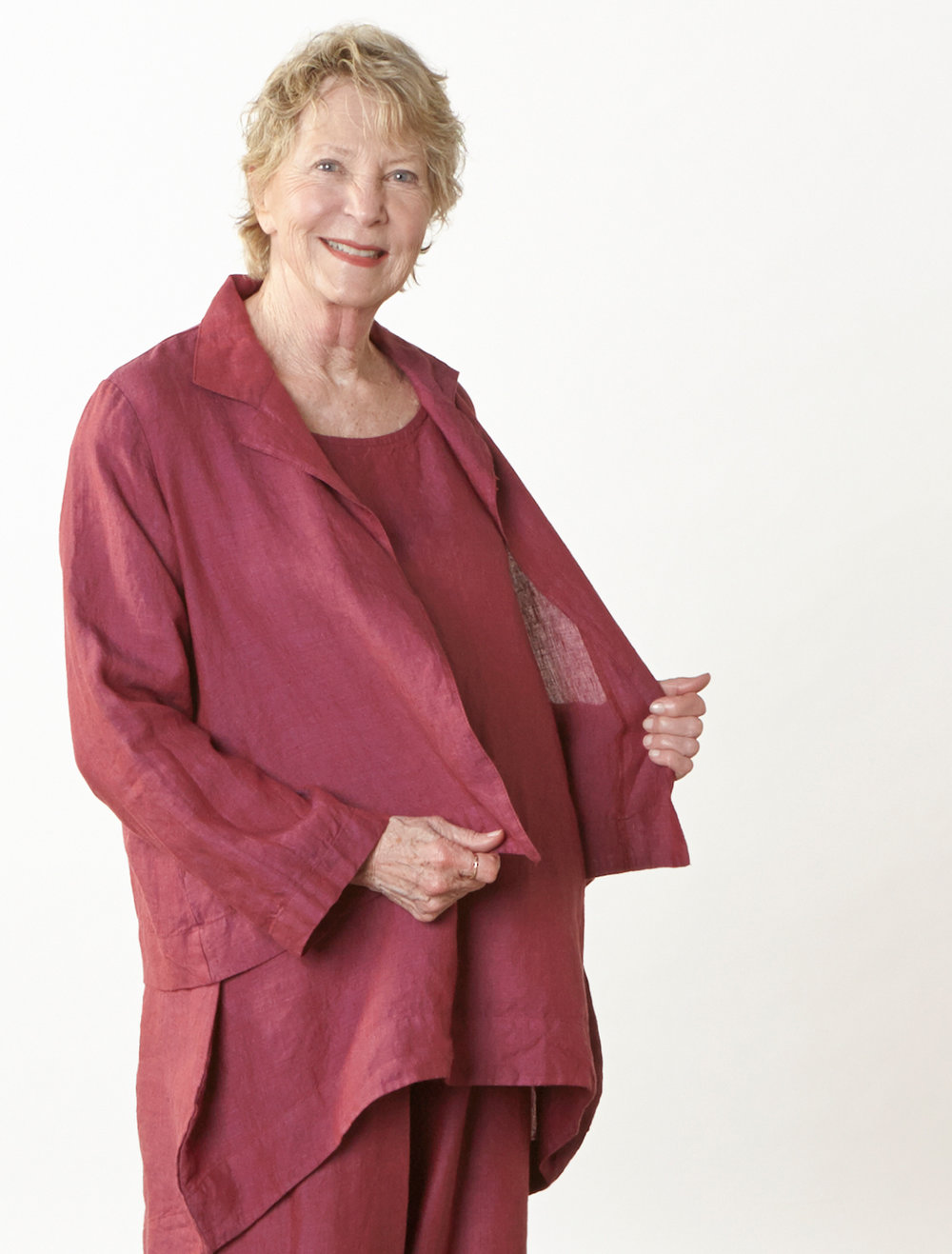 Lewis Jacket, Amy Tunic, Oliver Pant in Granada Cross Dyed Linen