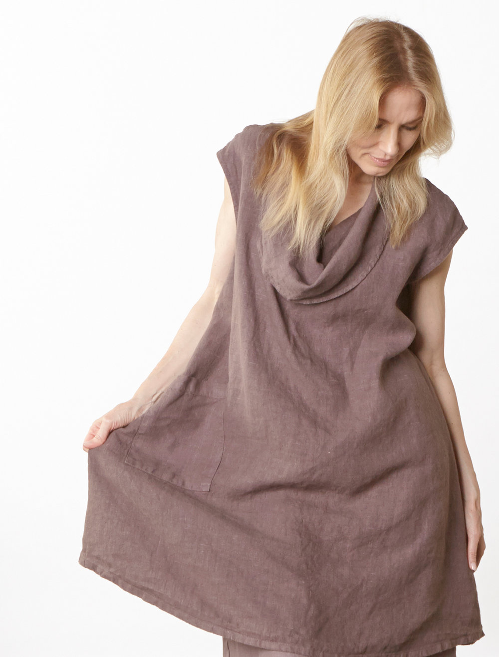 Nolan Tunic in Easel Heavy Linen