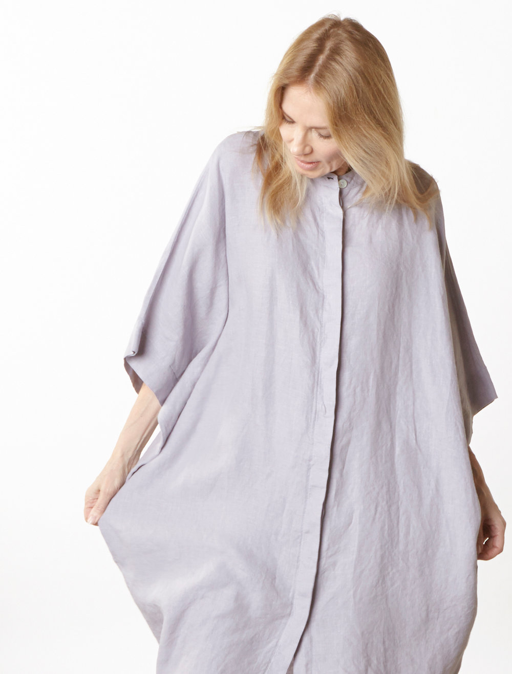 Jacoba Tunic in Dapple Light Linen
