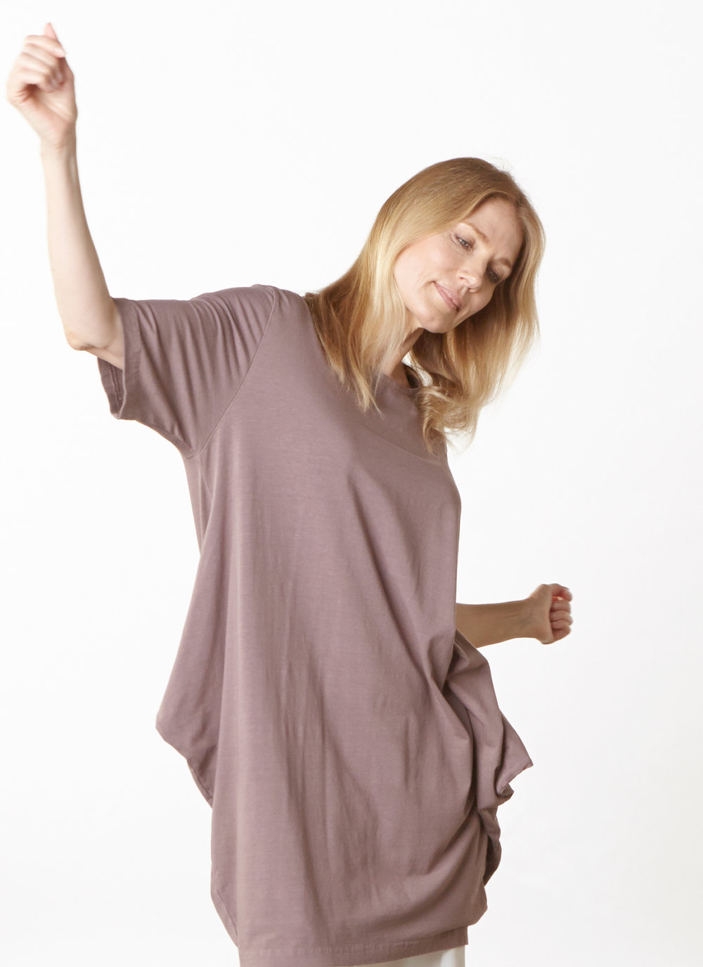 Conrad Tunic in Easel Bamboo Cotton