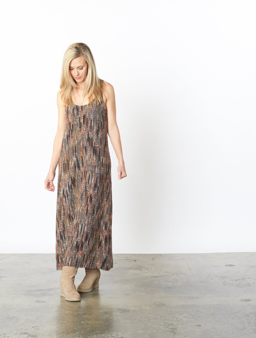 Bobbi Dress in Multi Italian Crochet