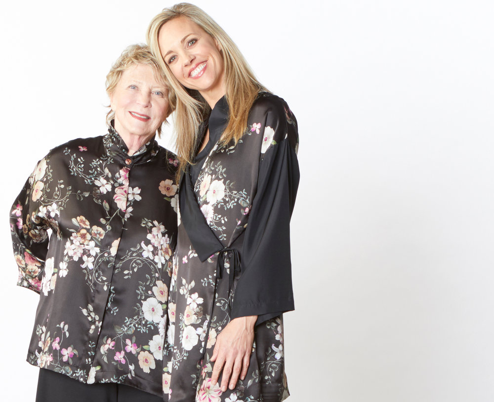 Alabama Shirt, Franca Jacket in Black/Pink Italian Silk Print