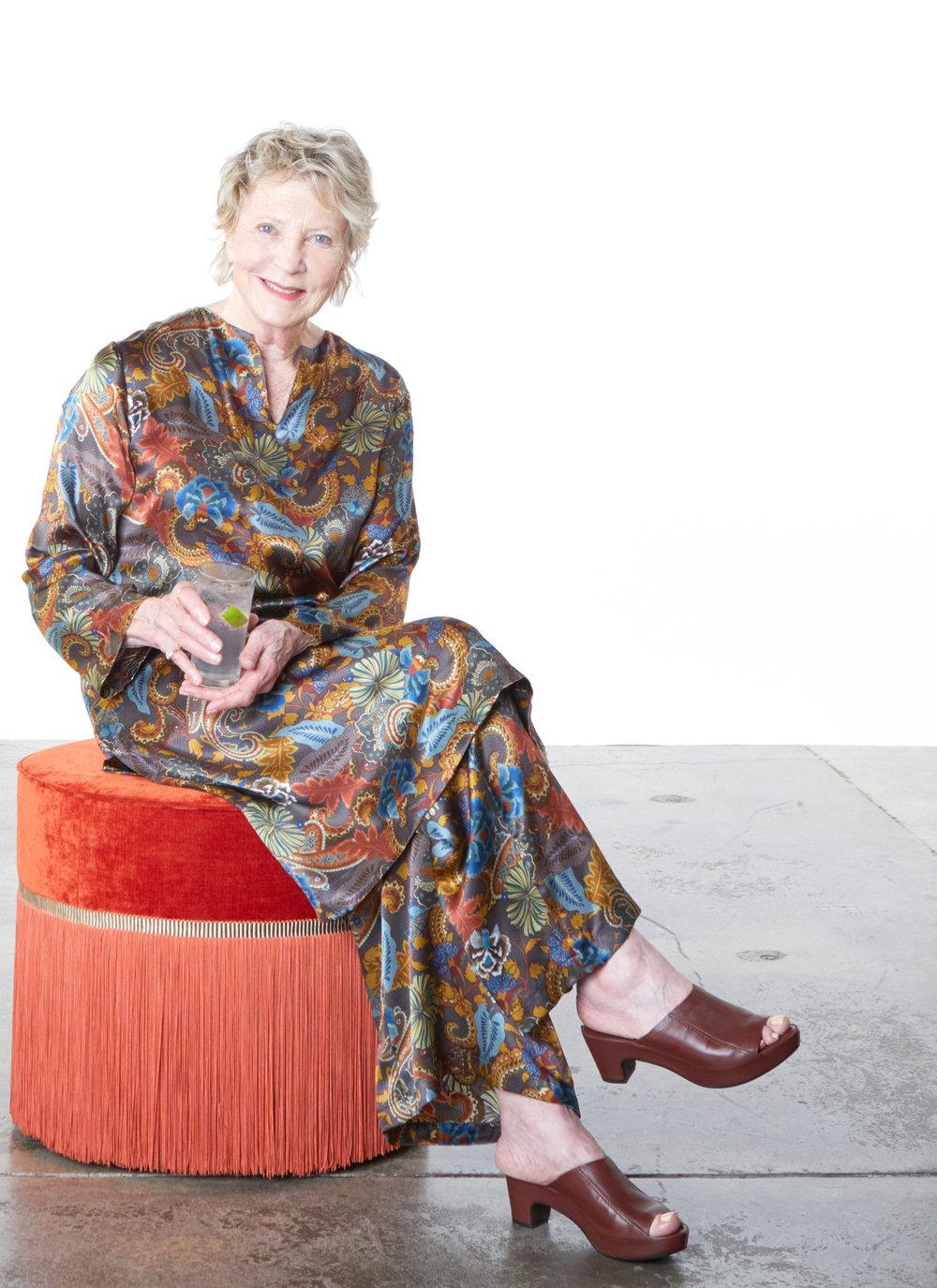 Risa Tunic, Long Full Pant in Paisley Silk Print