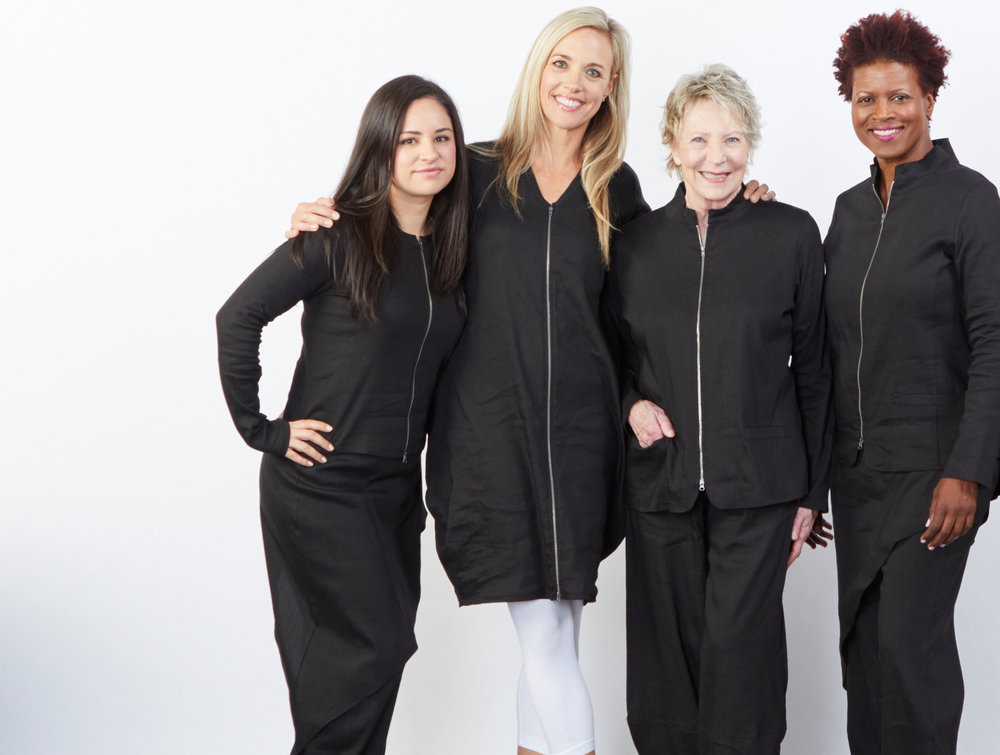 Betz Jacket, Mathias Jacket, Hayden Vest, Sofia Pant, Oliver Pant in Black Ready for Bologna, Legging in White Bamboo Cotton