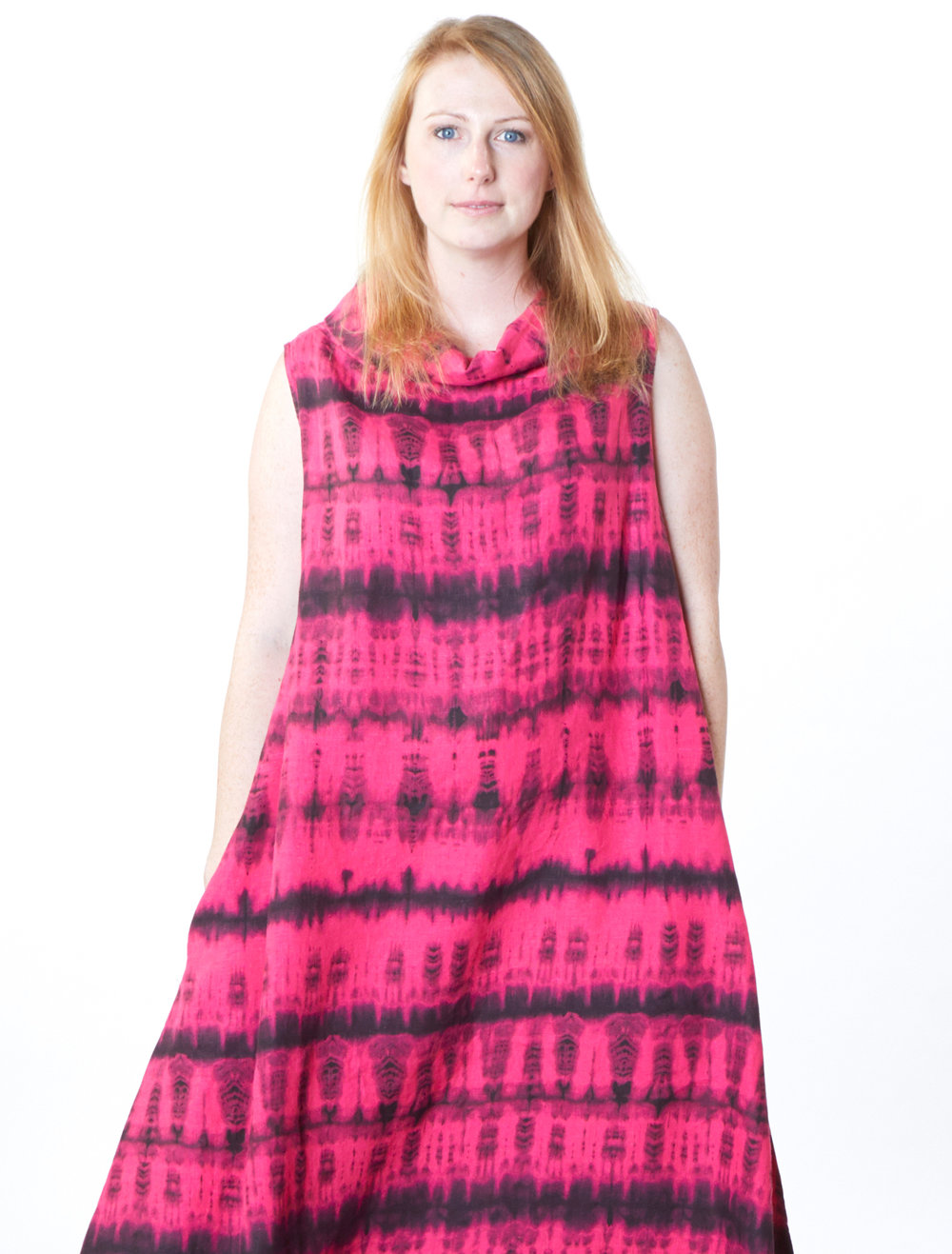 Henrietta Dress in Impatiens Tie Dye Linen