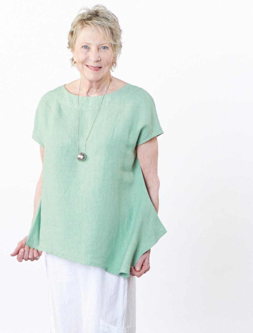 Ivy Shirt in Hosta Light Linen
