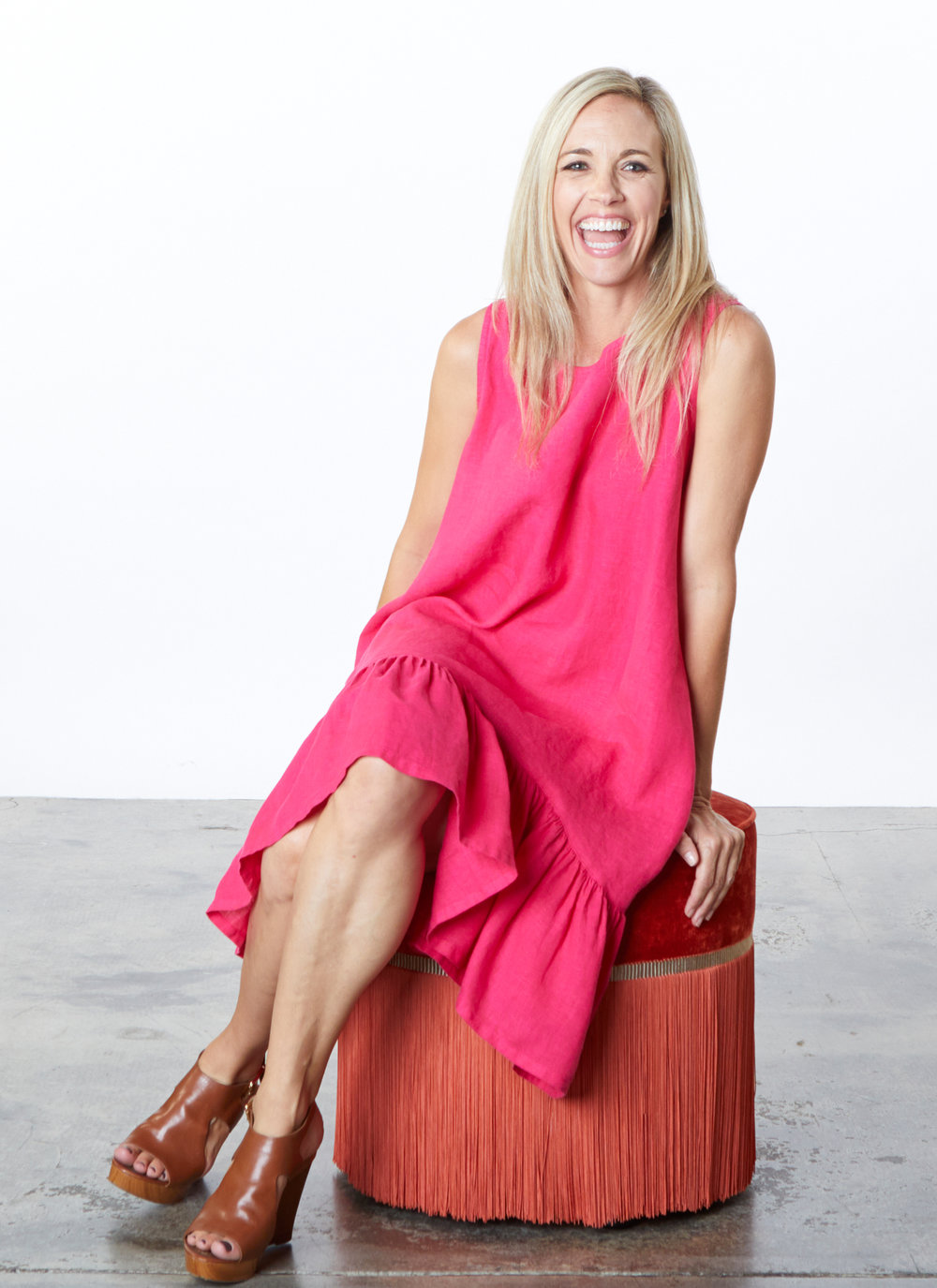 Angelita Dress in Impatiens Light Linen