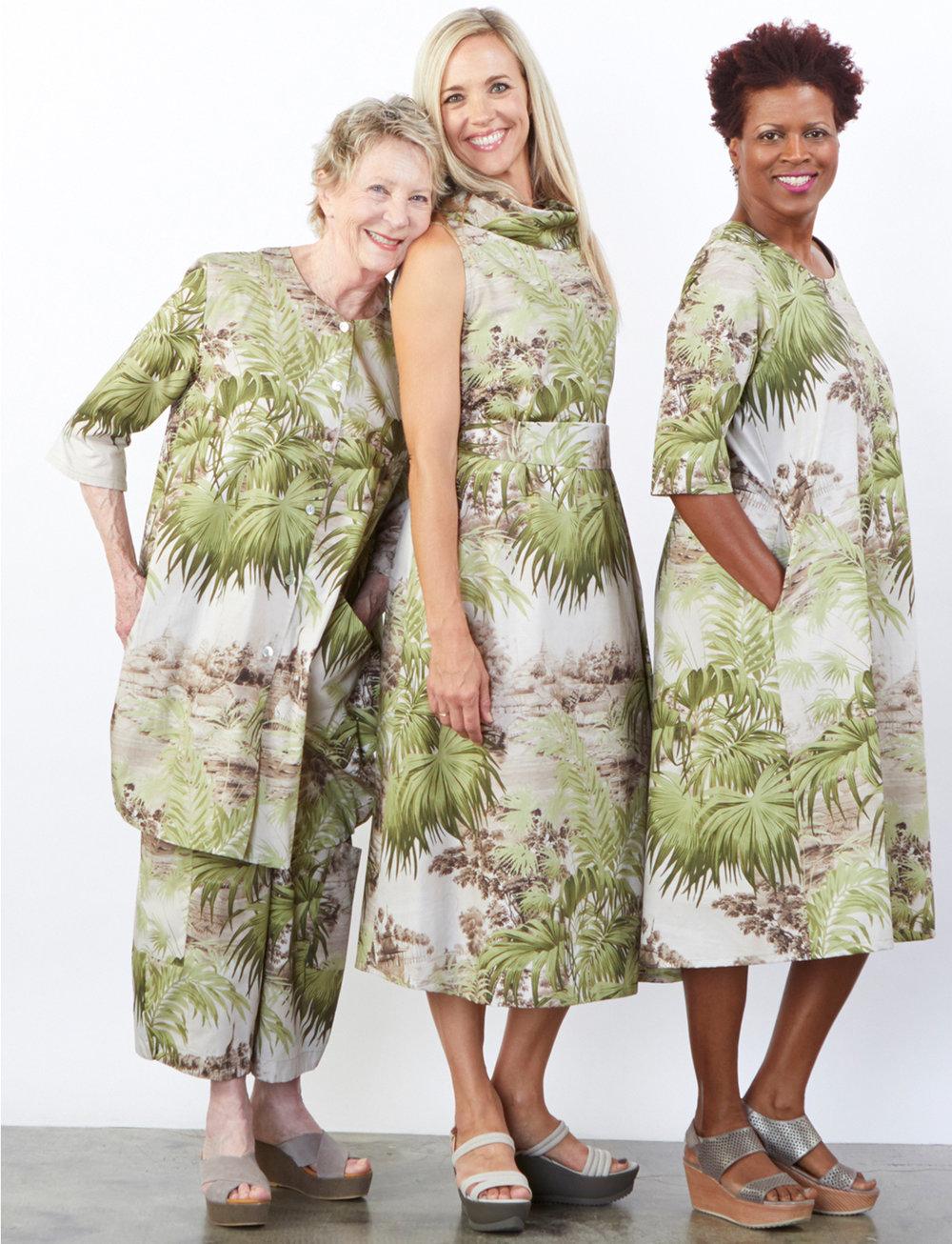 Gillian Jacket, Henrietta Dress, Homer Dress, Casbah Pant in Ready for Ubud