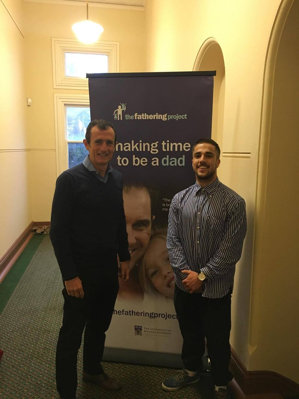 Wayne Bradshaw CEO, The Fathering Project and Oskar Paino-Povey,  current McCusker Centre intern