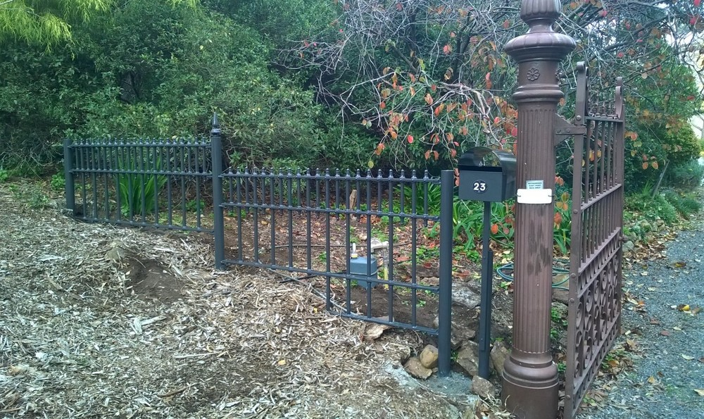 cast iron fence RE BIRTHED from HERITAGE panels