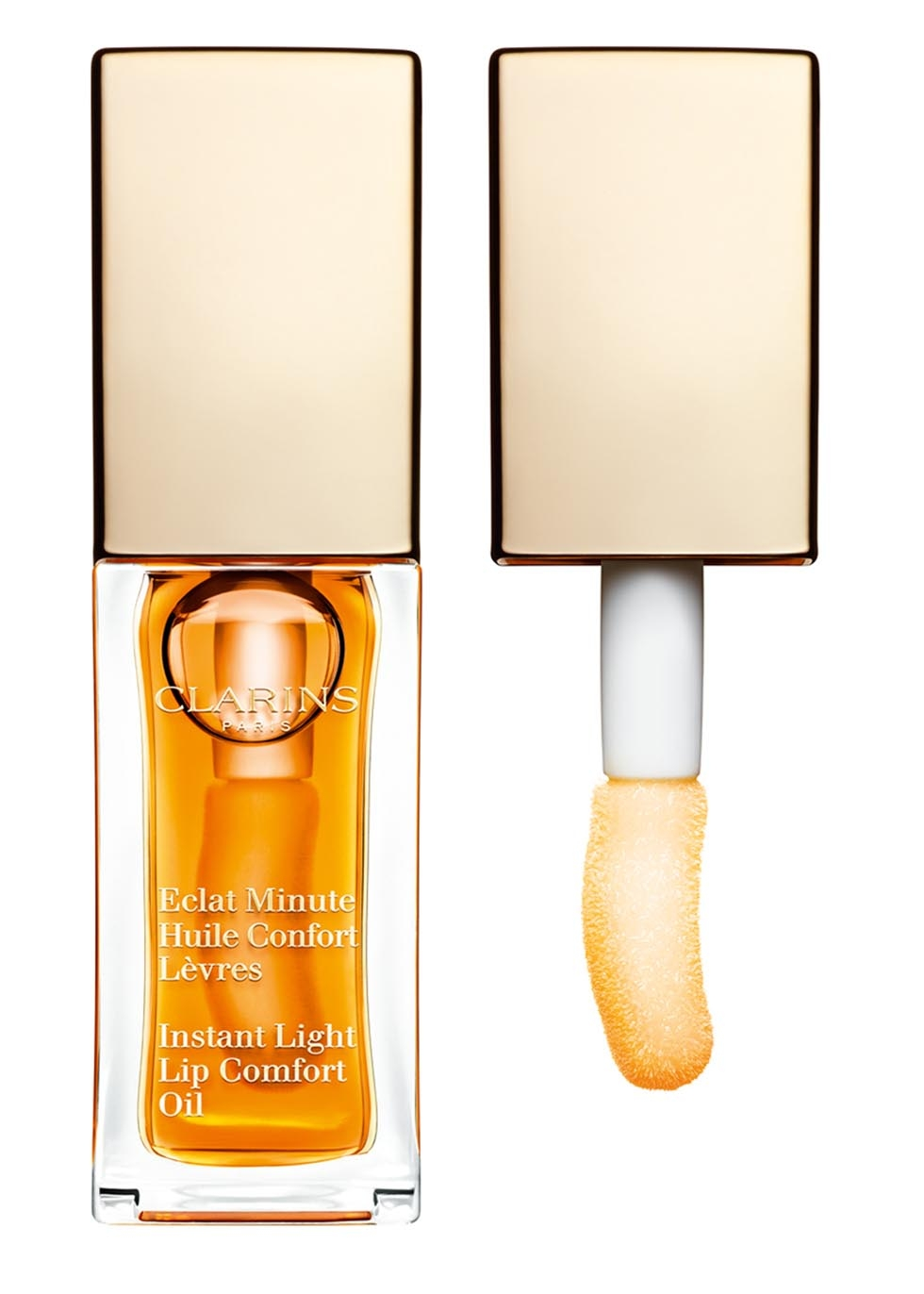 Clarins Instant Light Lip Comfort Oil in 01 Honey
