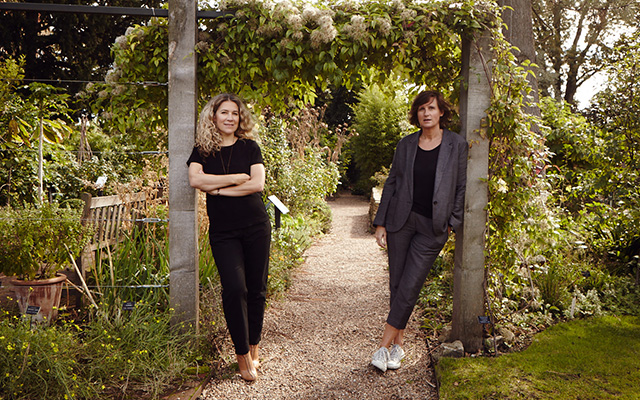 Jo Malone London's Céline Roux and Anne Flipo in an English herb garden.