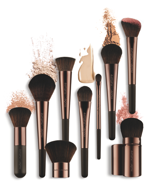Nine new Nude by Nature Professional Brushes in the Collection.