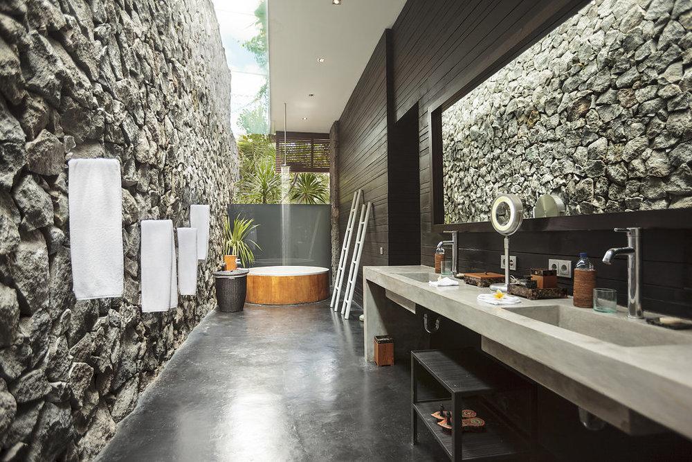Bathroom in Bali vila