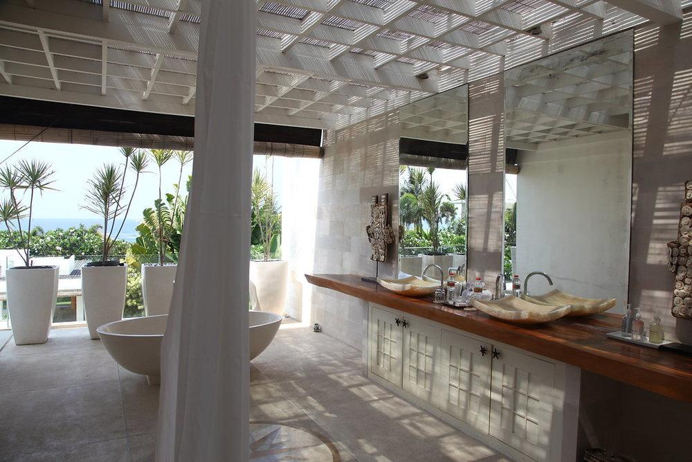 Bar area in Bali villa