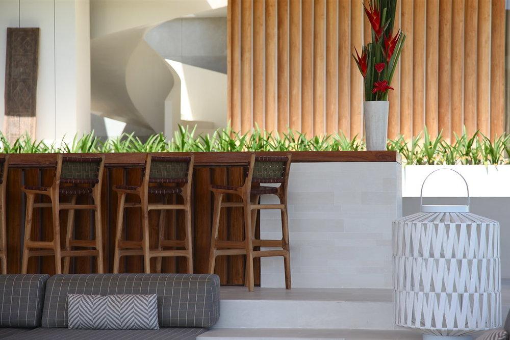 Outdoor dining area in Bali villa