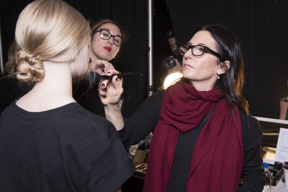 Brown backstage at New York Fashion Week