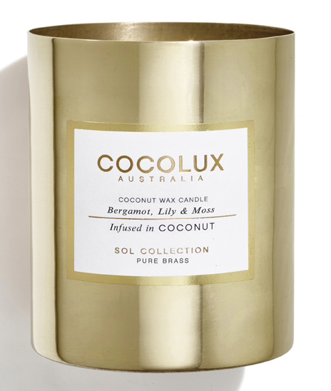 Cocolux Sol Brass Candle, $85.