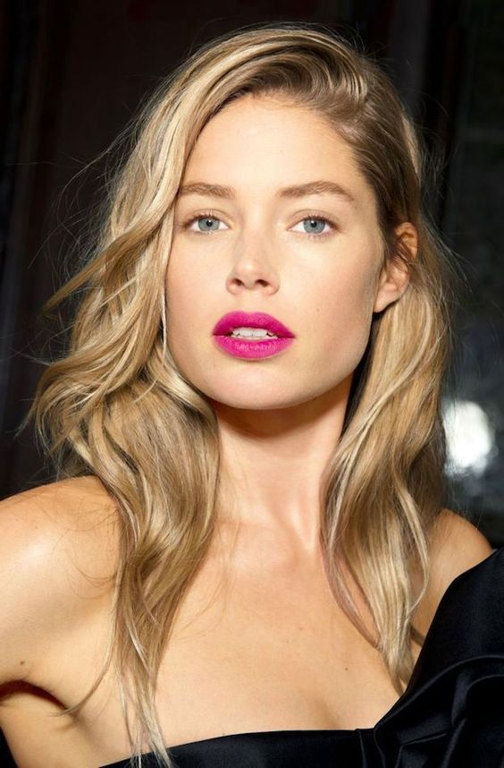 Be bright and unapologetic with your lip colour choice. Image Pinterest