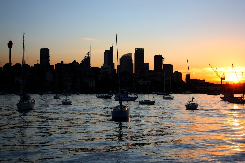 Rushcutters Bay sunset.JPG