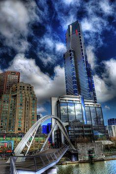 A ground view of Melbourne CBD