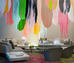 Colourful art on wall