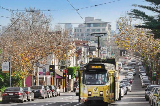 Tram in Melbourne's CBD