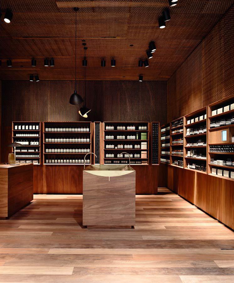 The stunning Aesop store at Melbourne Emporium.